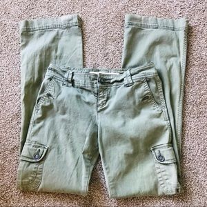Liberation Anthropologie Green Cargo Pants